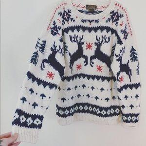 Vintage/ Eddie Bauer Wool Christmas Sweater